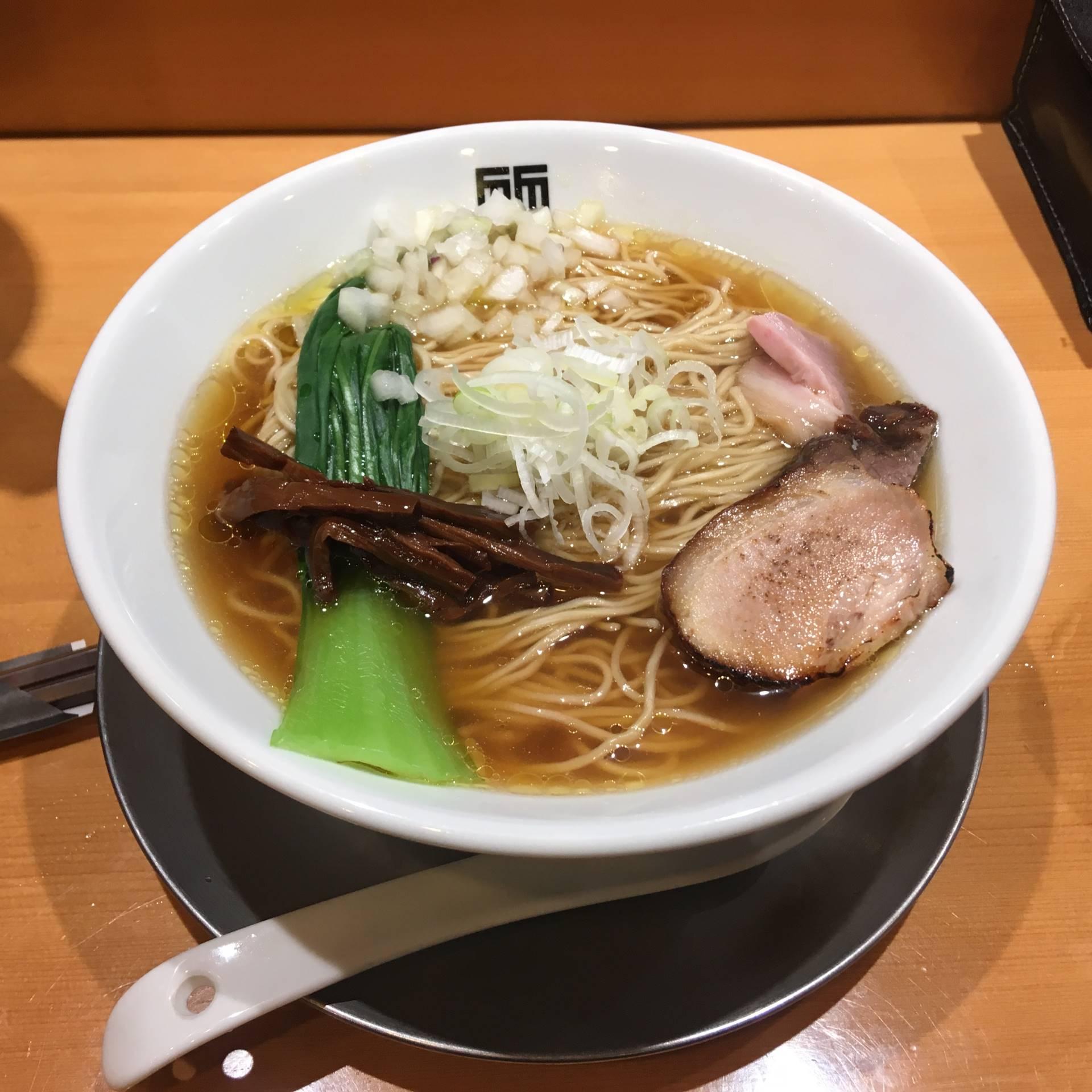 醤油そば800円 麺大盛り100円 竹末東京プレミアム