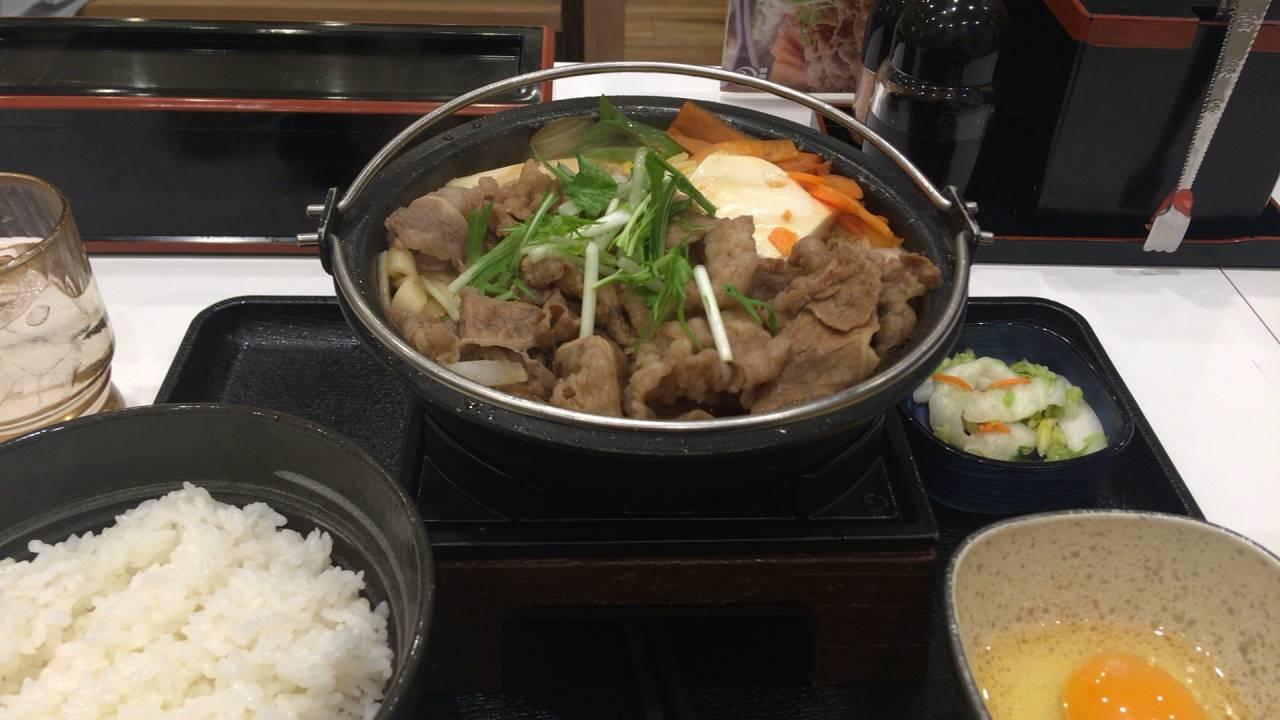 吉野家の牛すき鍋膳14食目