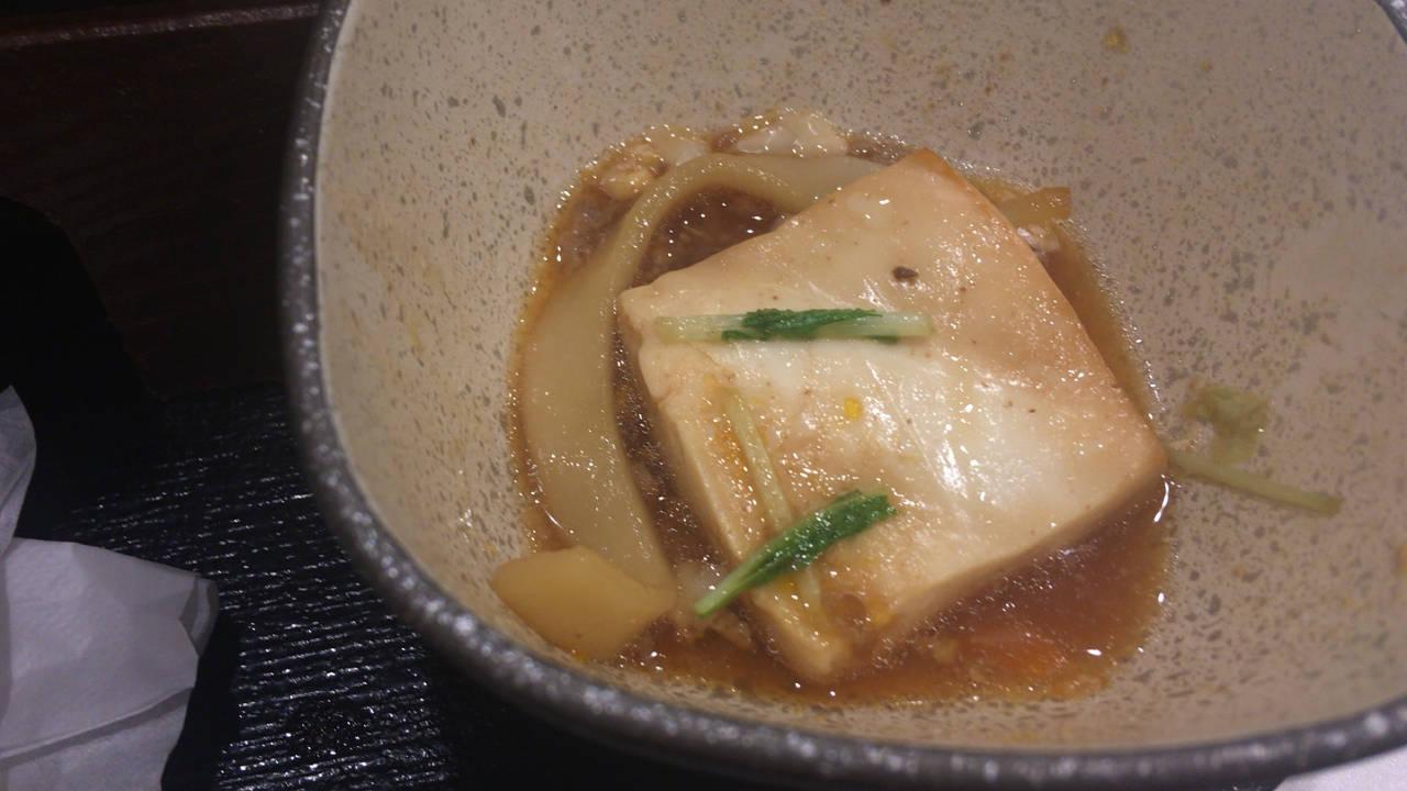 吉野家 牛すき鍋膳の豆腐