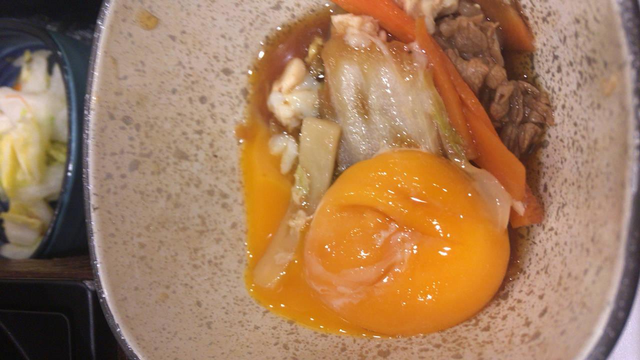 牛すき鍋膳の黄身の末路