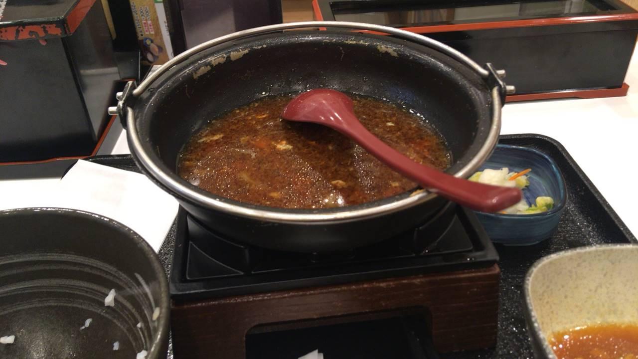 牛すき鍋膳並盛完食