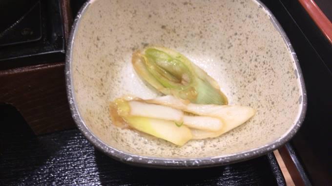 吉野家の牛すき鍋膳19食目のネギ