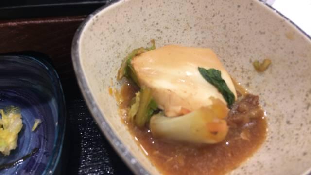 牛すき鍋膳の豆腐