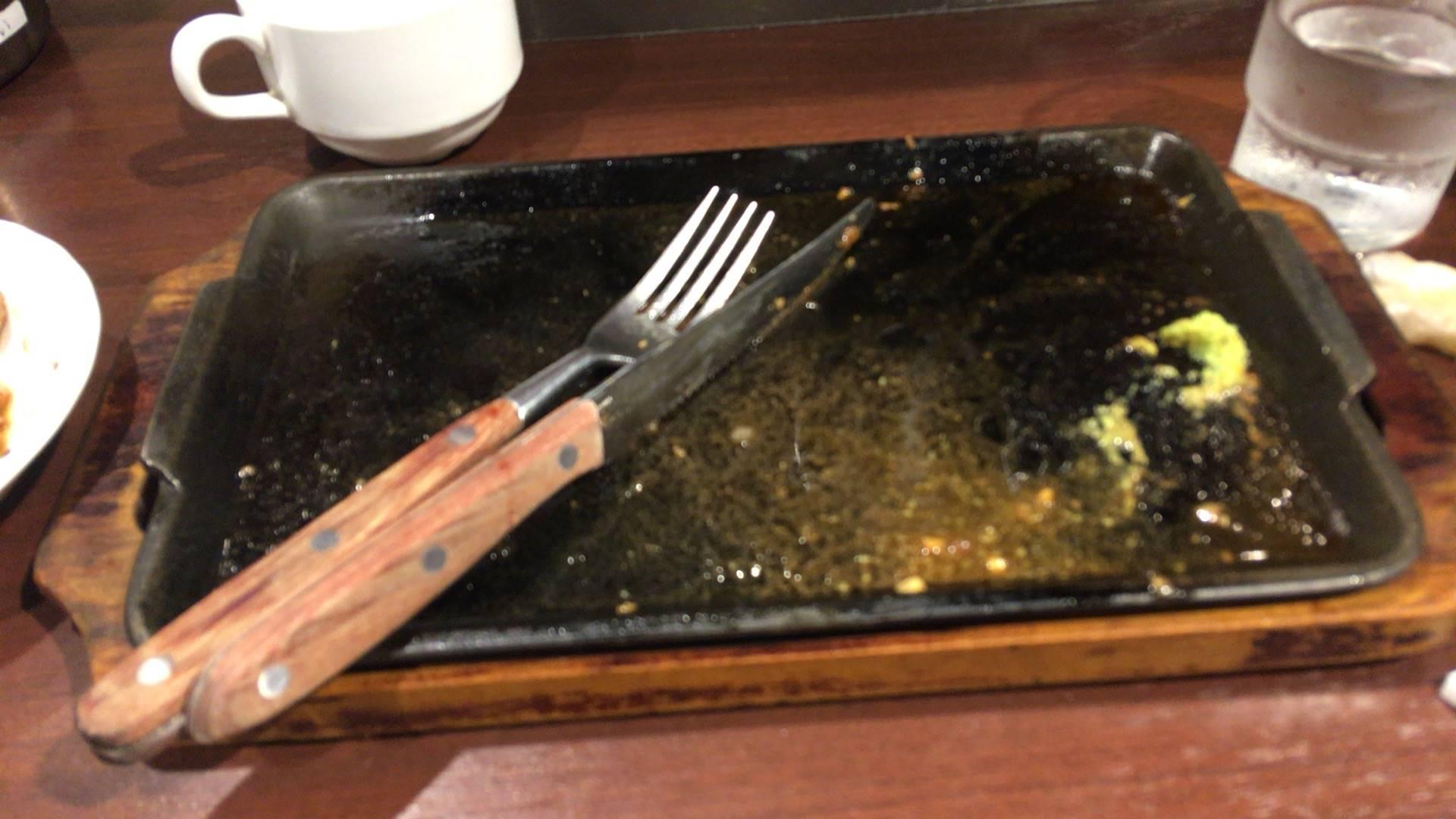 リブロースステーキ300g完食