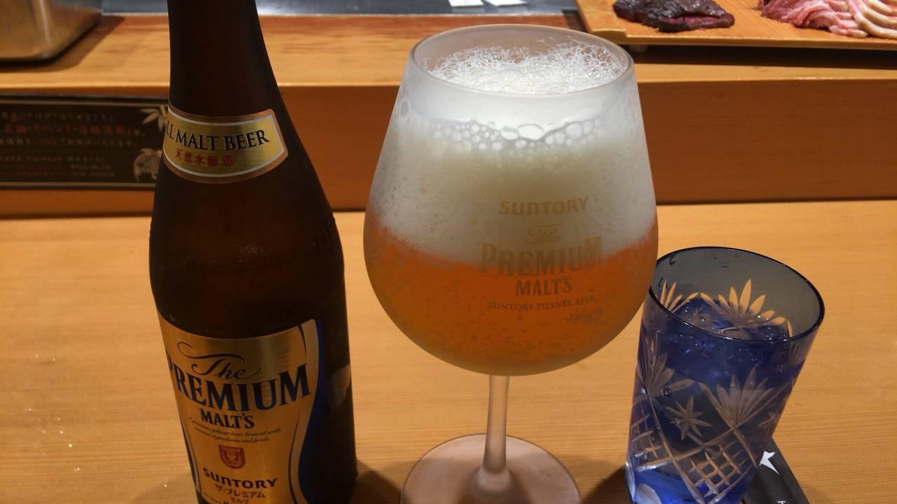 ビールはプレミアムモルツ瓶