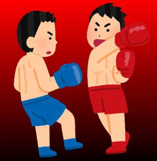ボクシングの叩きあい