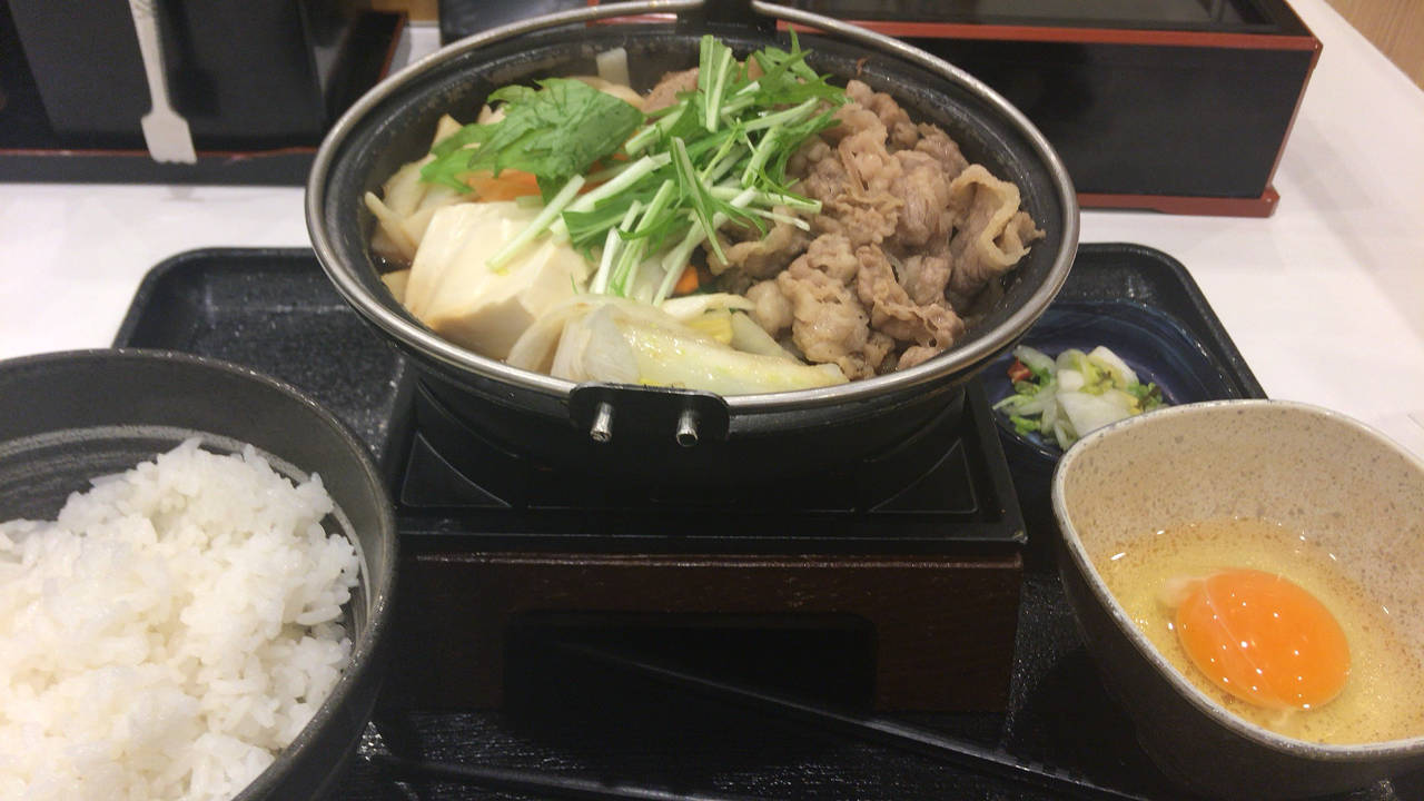 牛すき鍋膳セット並盛