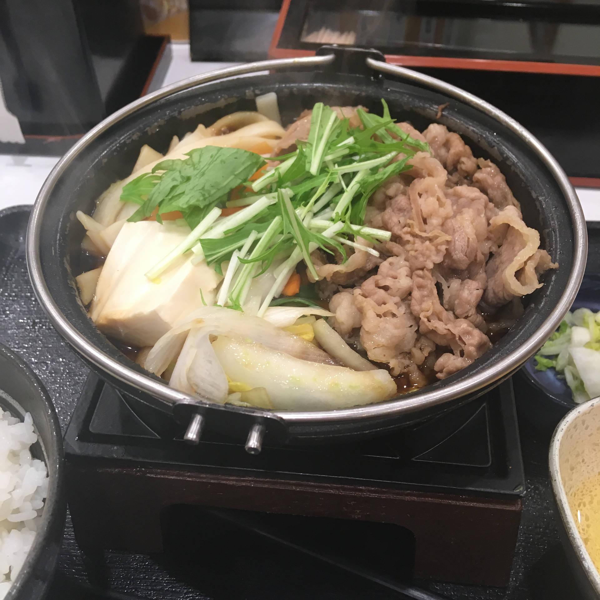 牛すき鍋膳セット並盛 写真