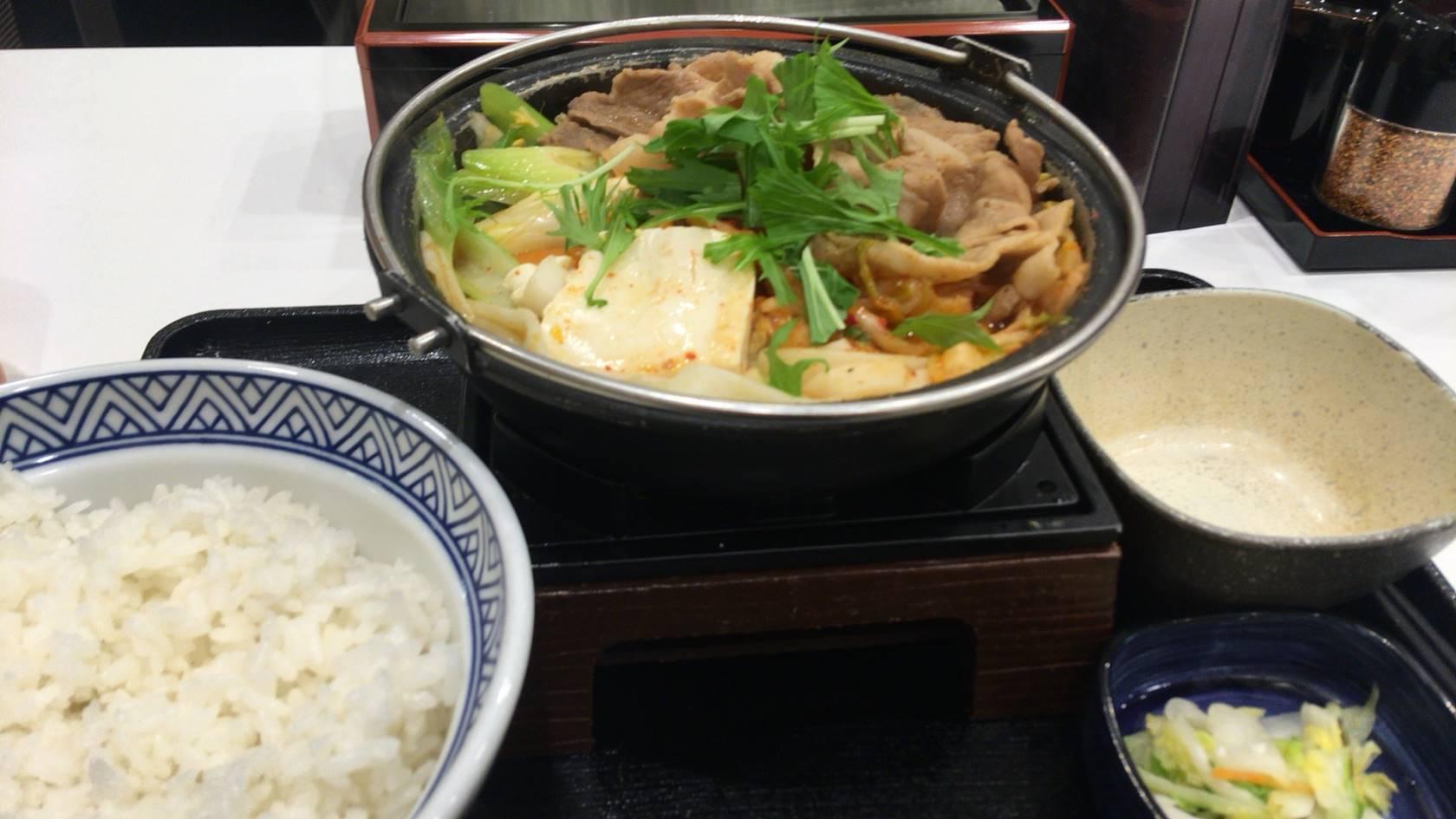 6食目「鬼辛豚チゲ鍋膳」大盛