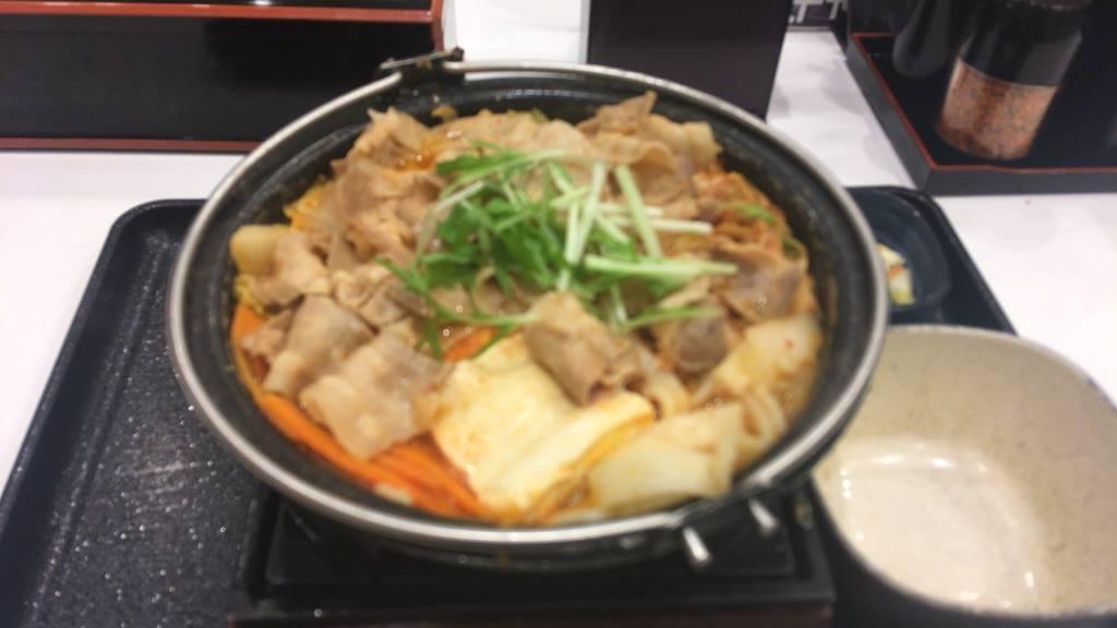 鬼辛豚チゲ鍋膳12食目