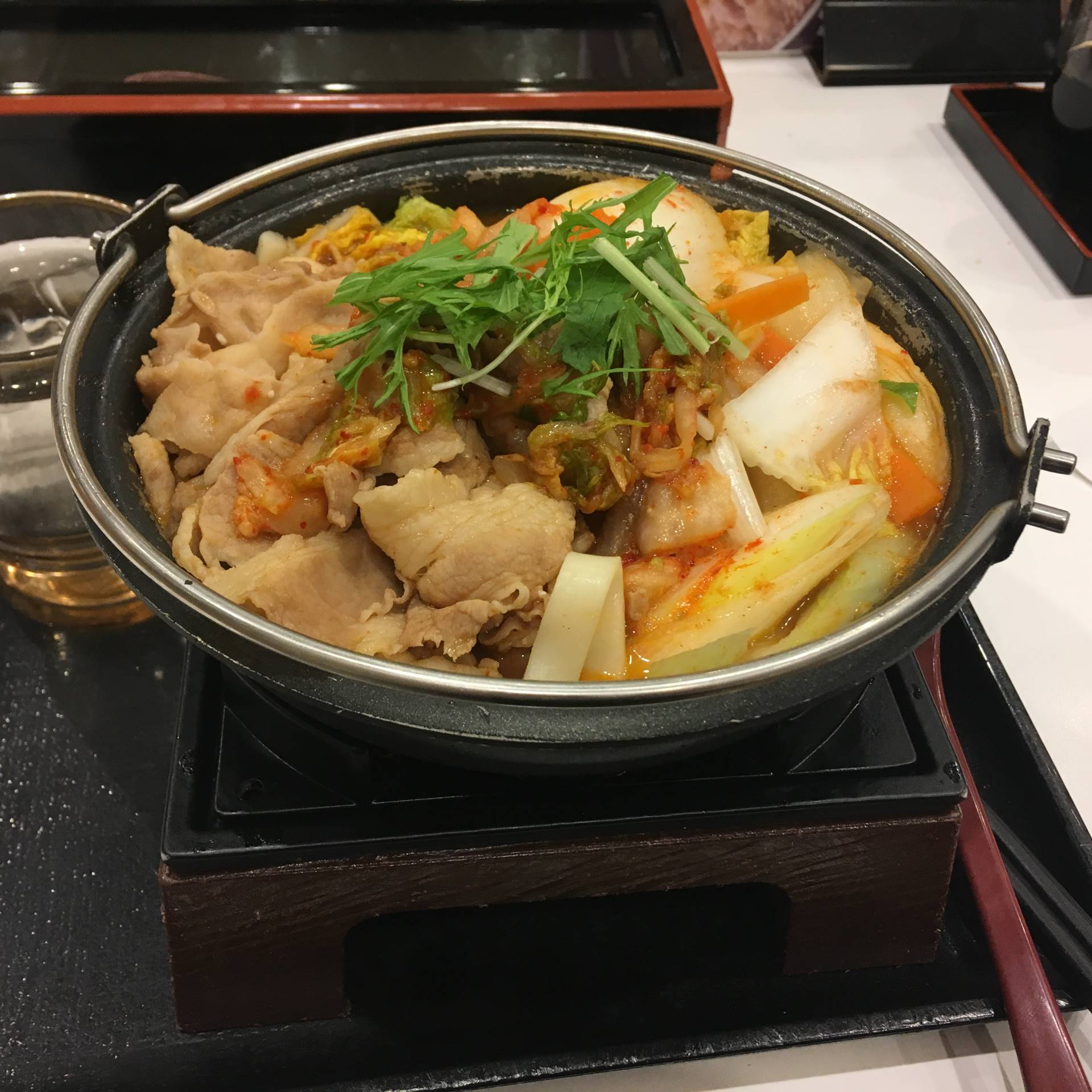 「鬼辛豚チゲ鍋膳」単品 大盛り定価680円