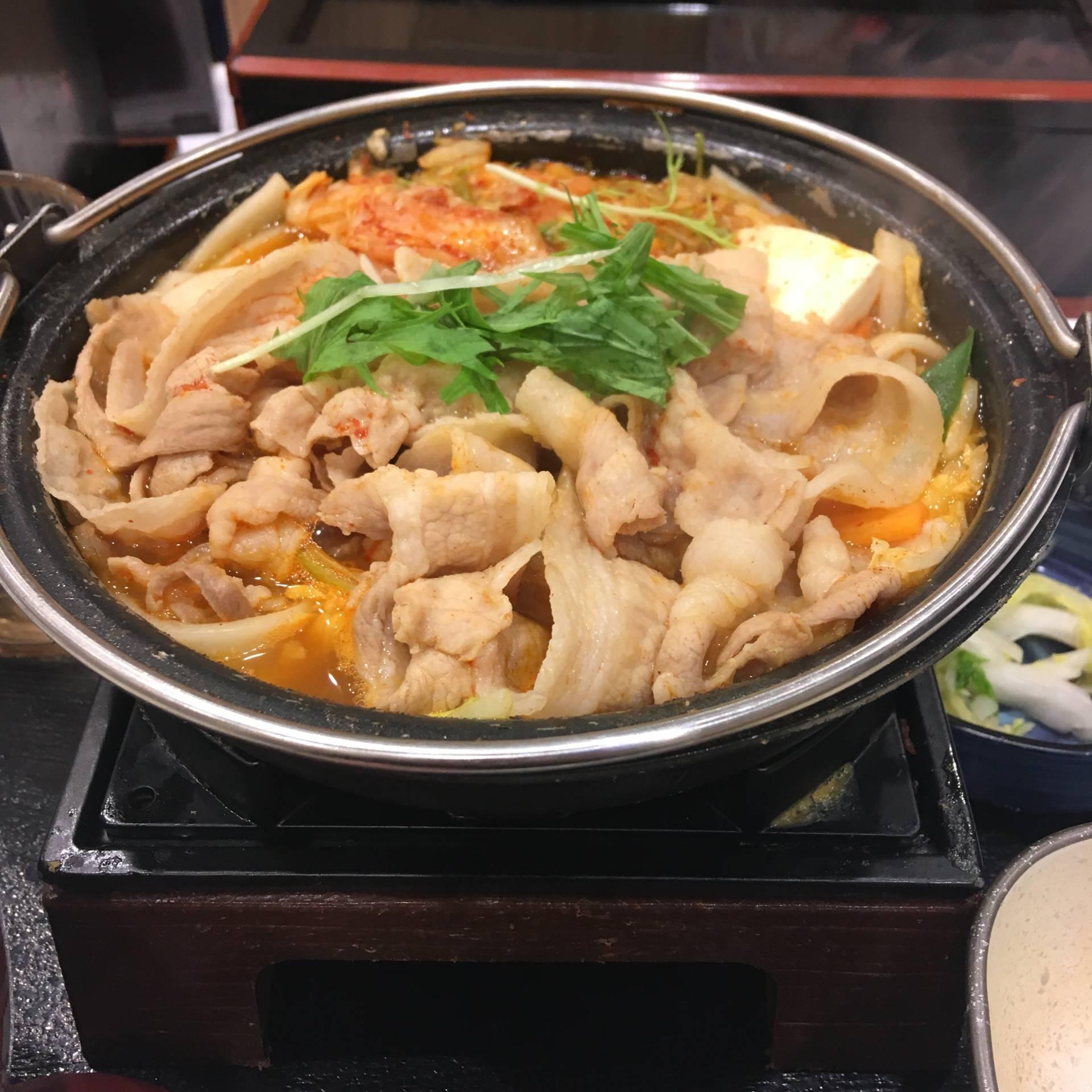 9食目 鬼辛豚チゲ鍋膳 セット並盛|吉野家
