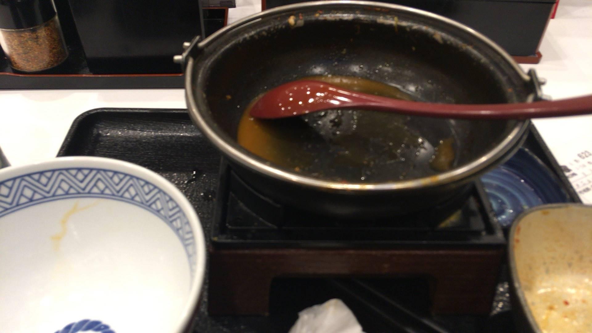 9食目 鬼辛豚チゲ鍋膳 セット並盛完食
