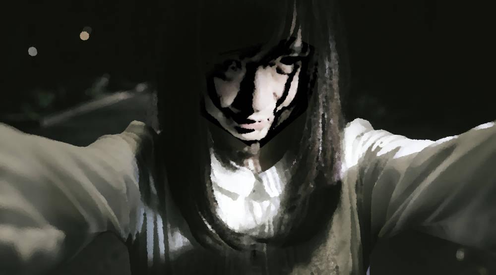 怖い女性の図
