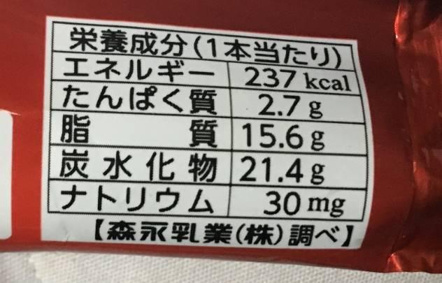 栄養成分表示 PARM(パルム) 森永乳業のアイスクリーム