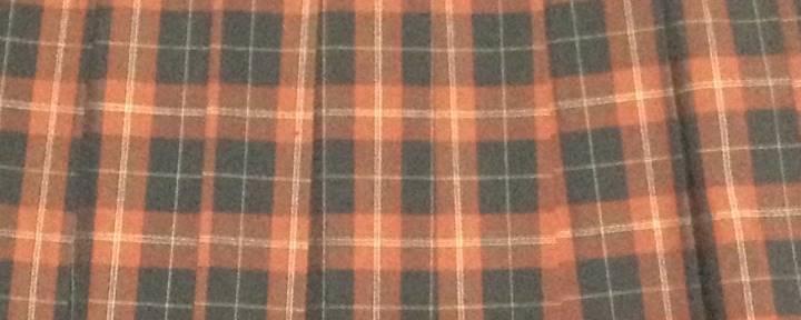 制服チェックガラプリーツスカート赤色×黒色