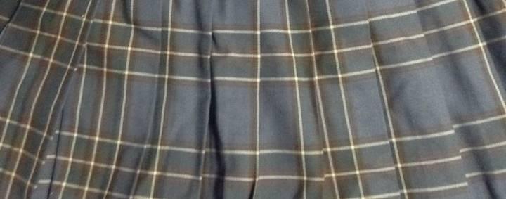 灰色と黒のチェック柄プリーツスカート