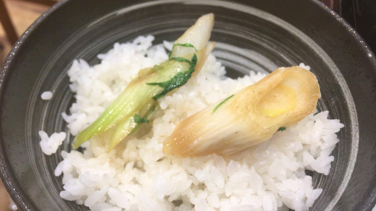 牛すき鍋膳のネギ