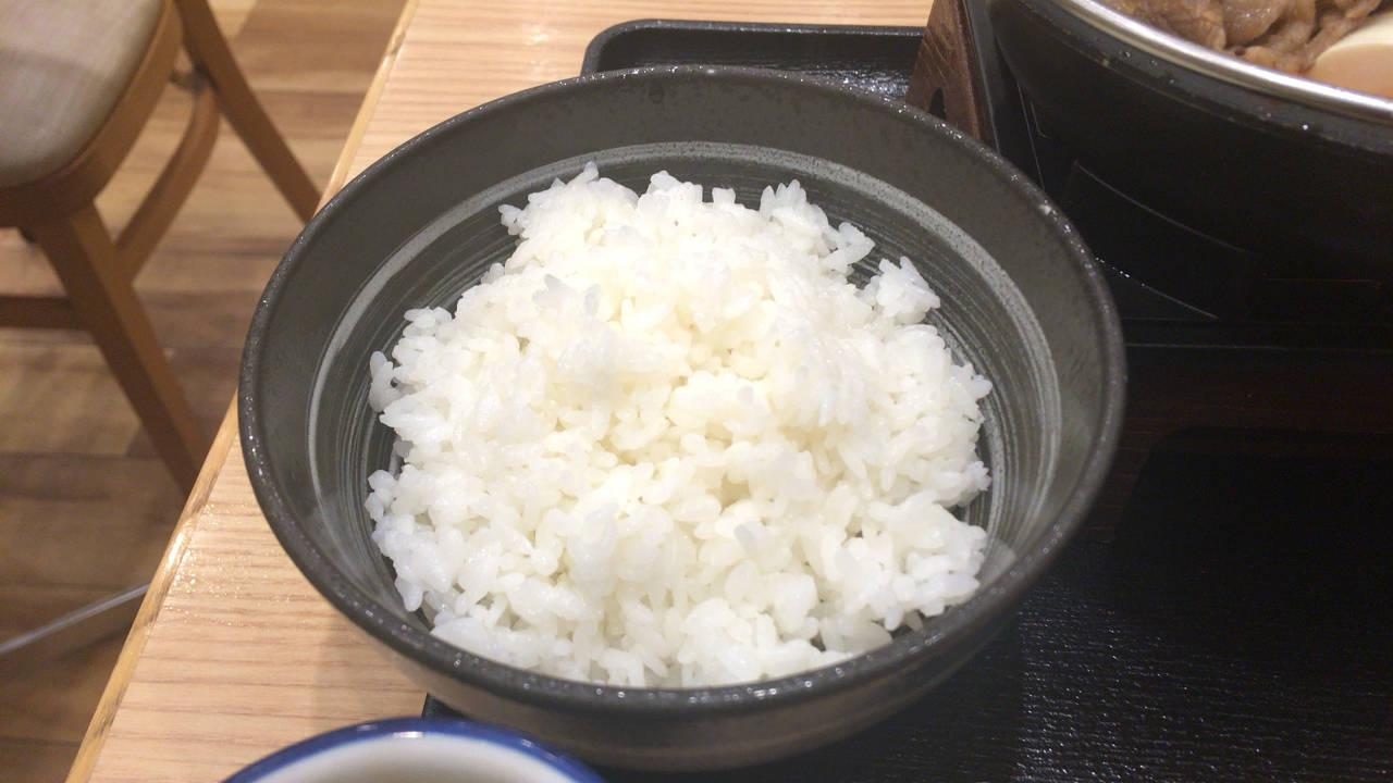 牛すき鍋膳並盛のご飯