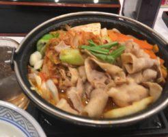 3食目:鬼辛豚チゲ鍋膳(セット)を大盛で食べてみた|吉野家