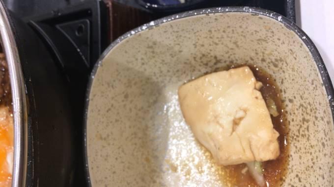 吉野家の牛すき鍋膳18食目の豆腐