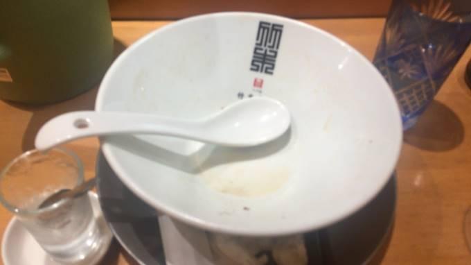 竹末東京プレミアムのヤシオマスの塩そばを完食した丼