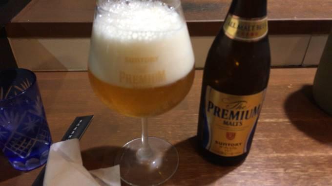 ビールはプレミアムモルツ500ml