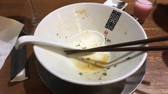鶏ホタテそば|竹末東京プレミアム 完食