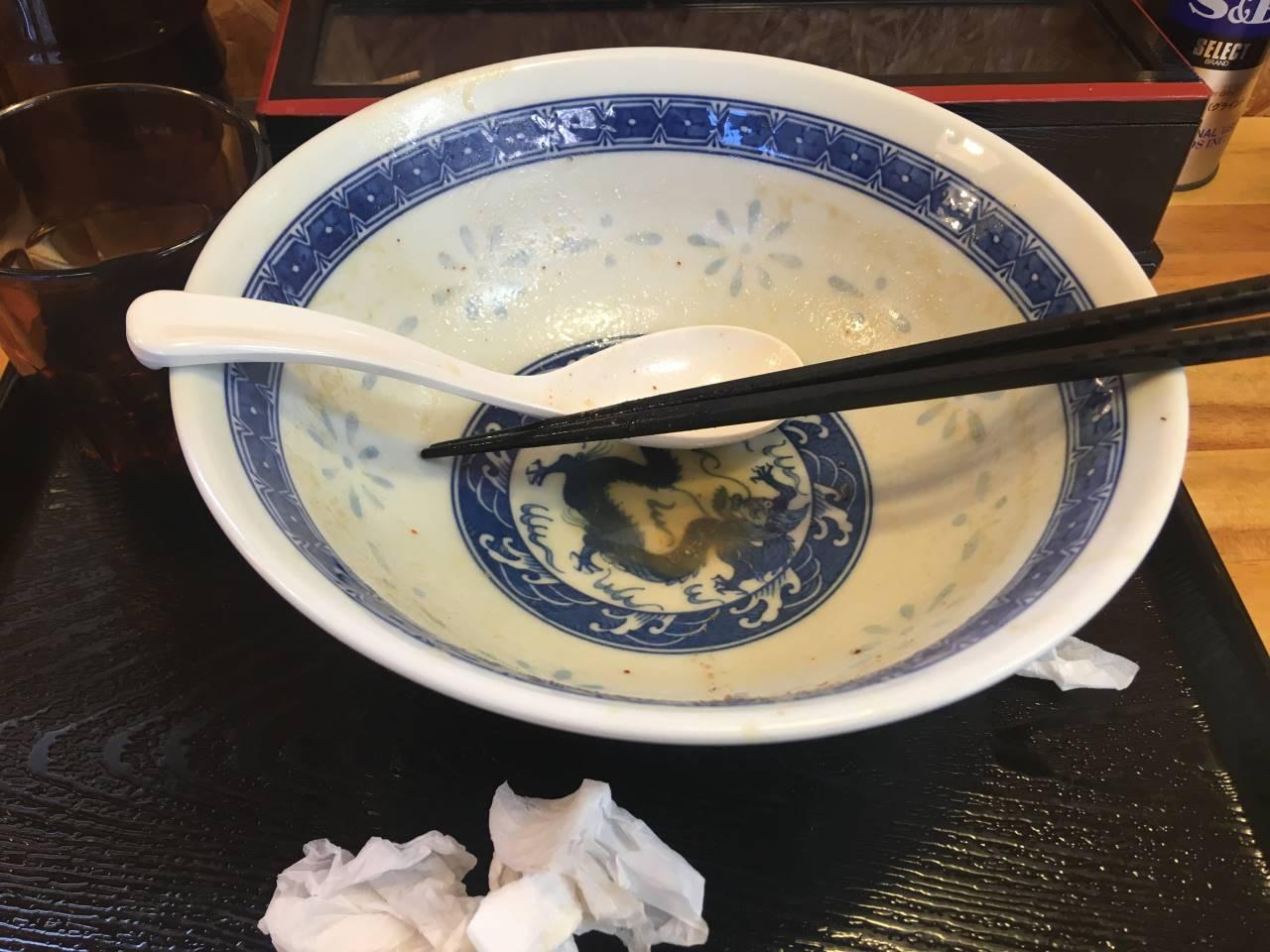 濃厚魚介鶏らーめん800円+くずチャーシュー100円完食・完汁