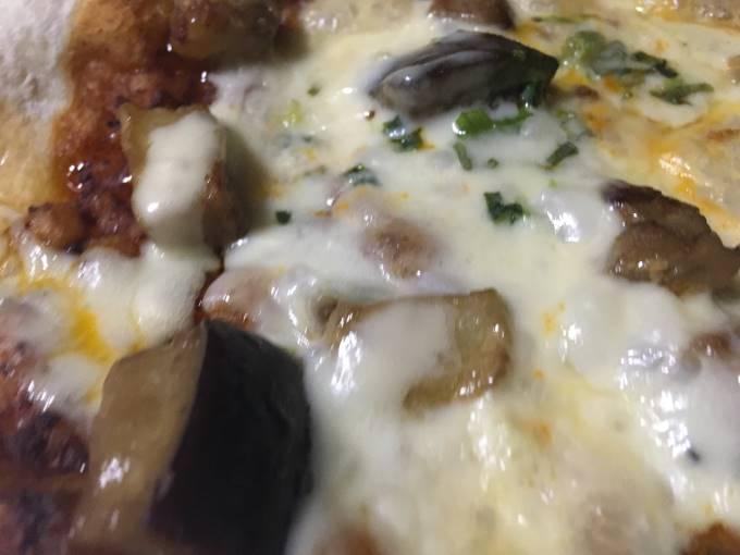 熟成味噌ソースのナスミートピッツア|薪窯ナポリピザ フォンターナ