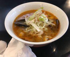 「真島組!解散らぁ麺」 (貝酸辣麺)|みそ味専門マタドール