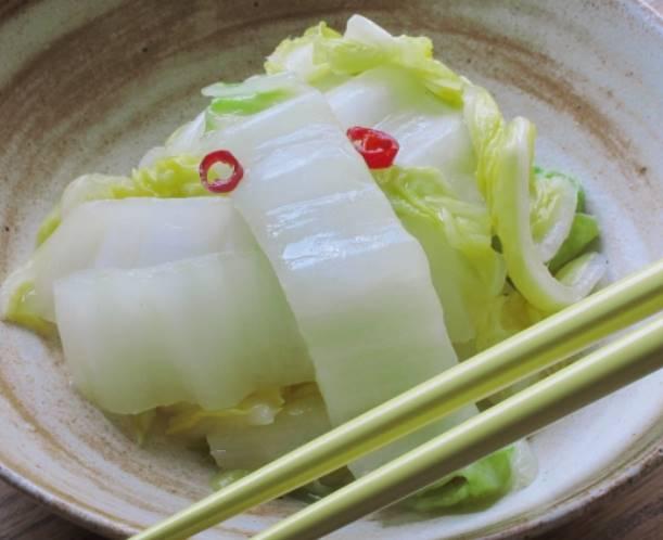 白菜の浅漬けの写真