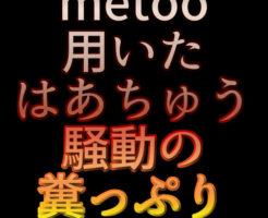 文字「metoo用いたはあちゅう騒動の糞っぷり」