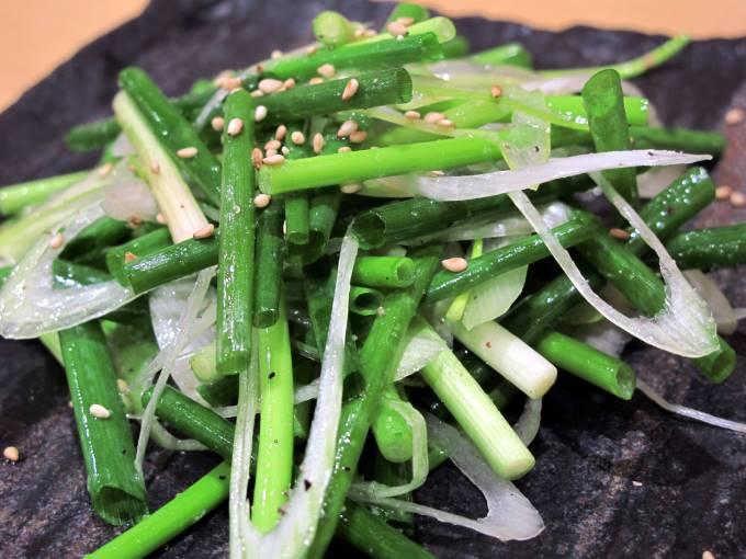 長葱と青ネギのサラダ