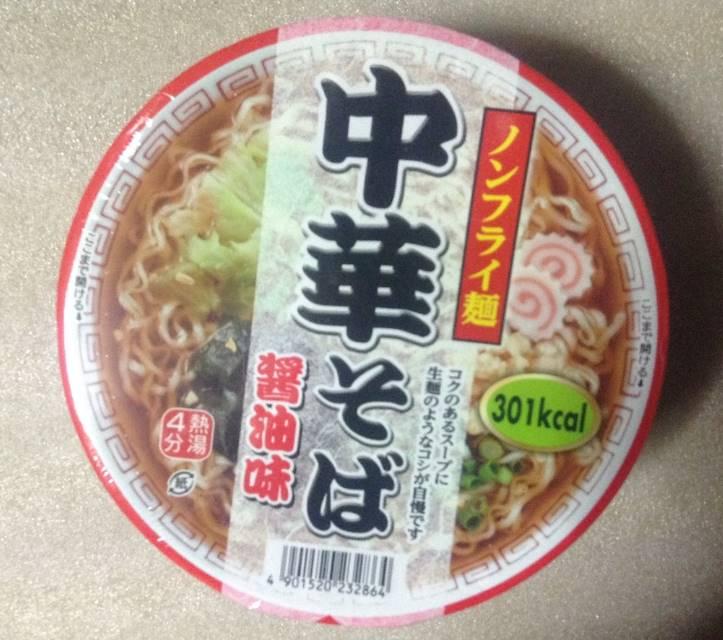 ノンフライ麺中華そば醤油味(テーブルマーク):カップラーメン