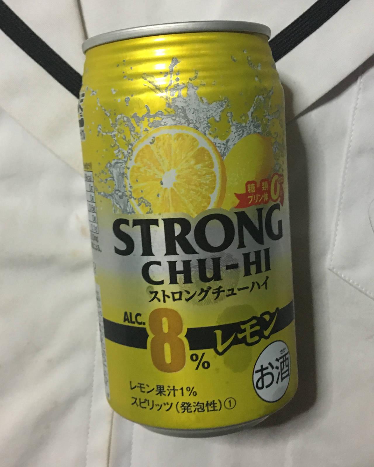 ストロングチューハイ レモン350ml(まいばすけっとで購入)