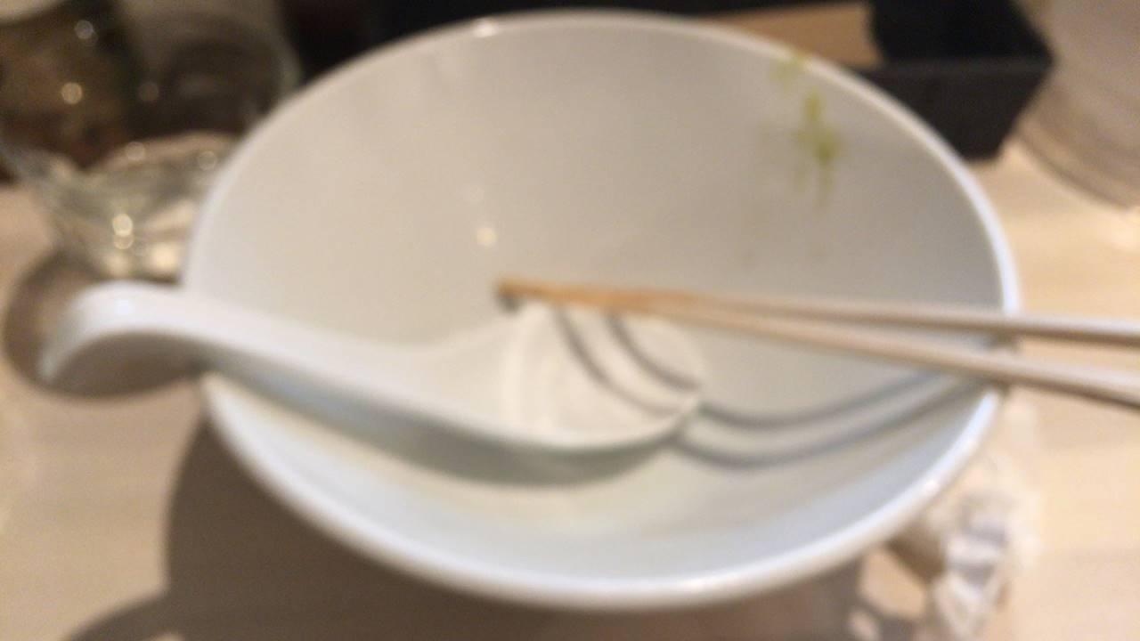 限定麺「ありが鯛|」完食した丼