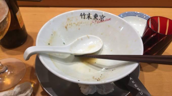 鶏ホタテそば900円完食