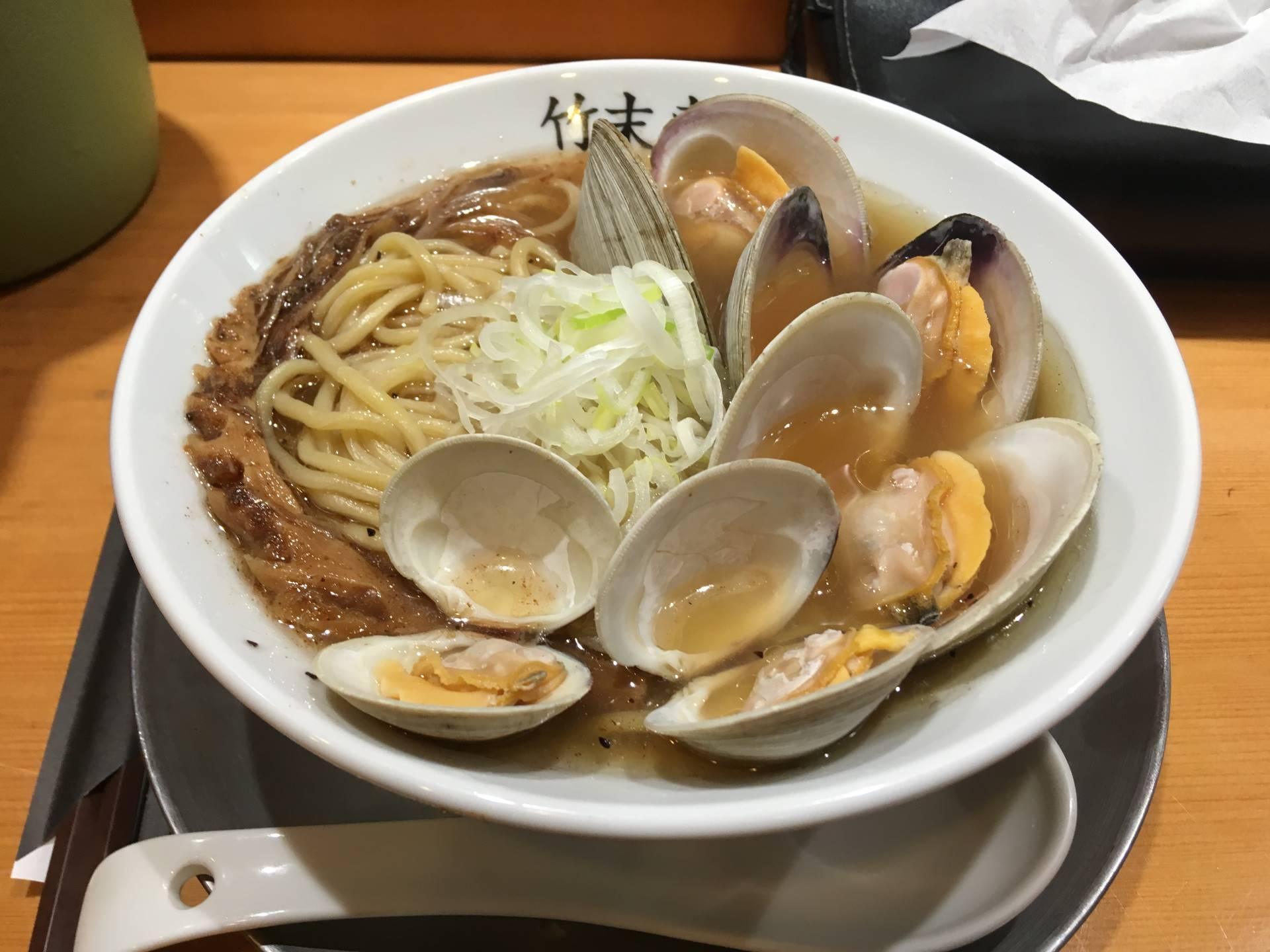 ホンビノス貝のラーメン|竹末東京プレミアム