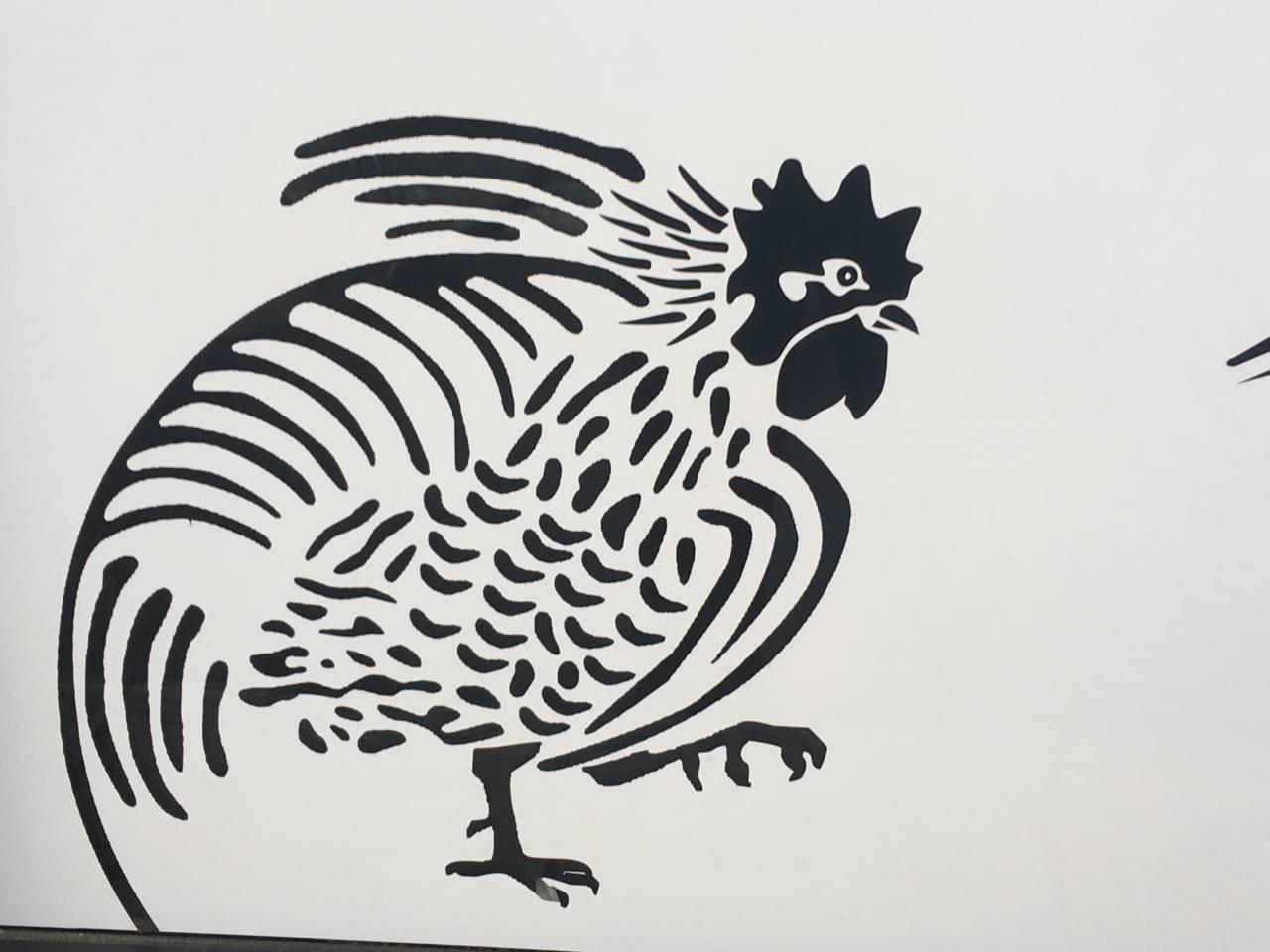 竹末東京プレミアム店舗外観に書かれた鶏