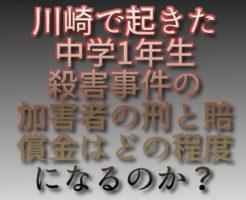 文字「川崎で起きた中学1年生殺害事件の加害者の刑と賠償金はどの程度になるのか?」
