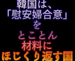 文字「韓国は、「慰安婦合意」をとことん材料にほじくり返す国」