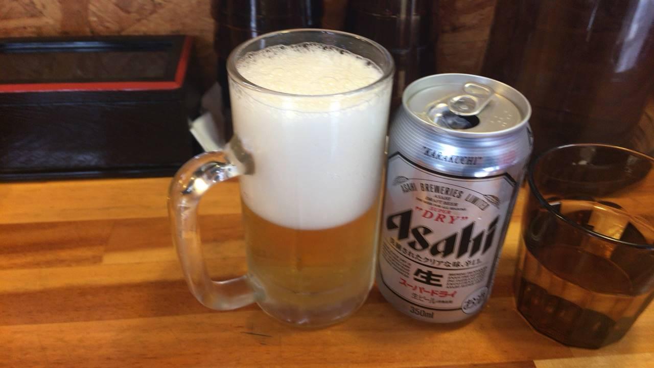 ビール:アサヒスーパードライ