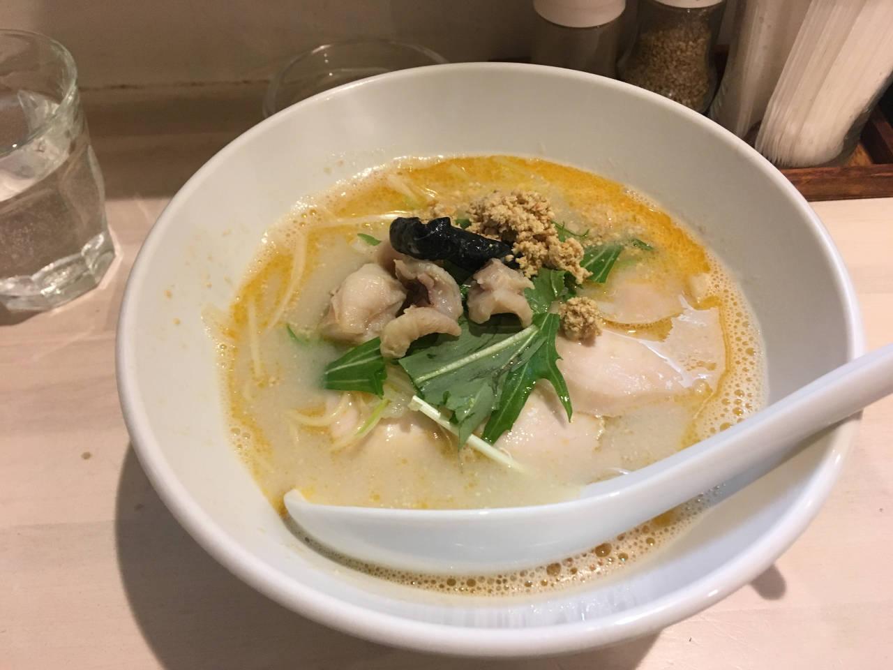 拉麺 吉法師の限定麺:信じが鯛(鯛出汁+鮟肝 )¥1000