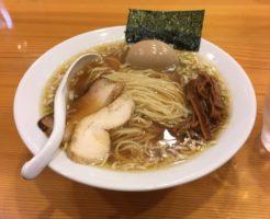 すずめ食堂の中華そば750円