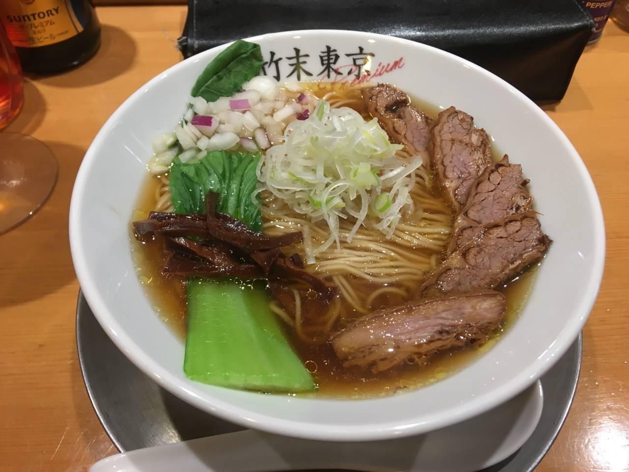 竹末東京プレミアムの醤油そば+肉