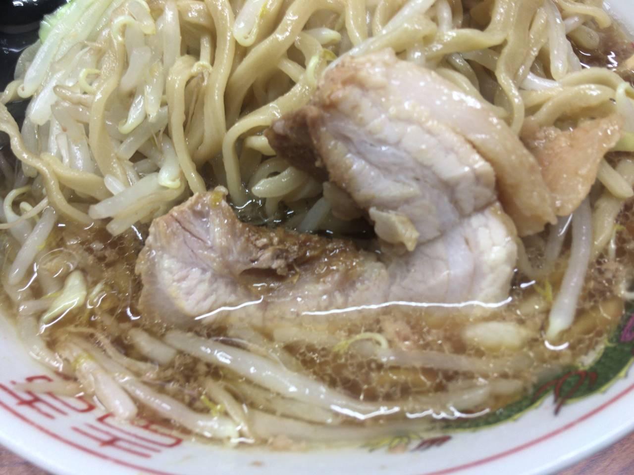 亀戸二郎のラーメンの豚肉