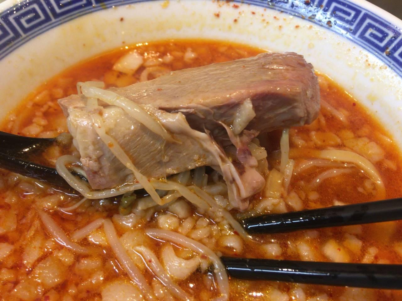 麺絆や 519(こいけ) で四川辣醤麺800円の豚肉