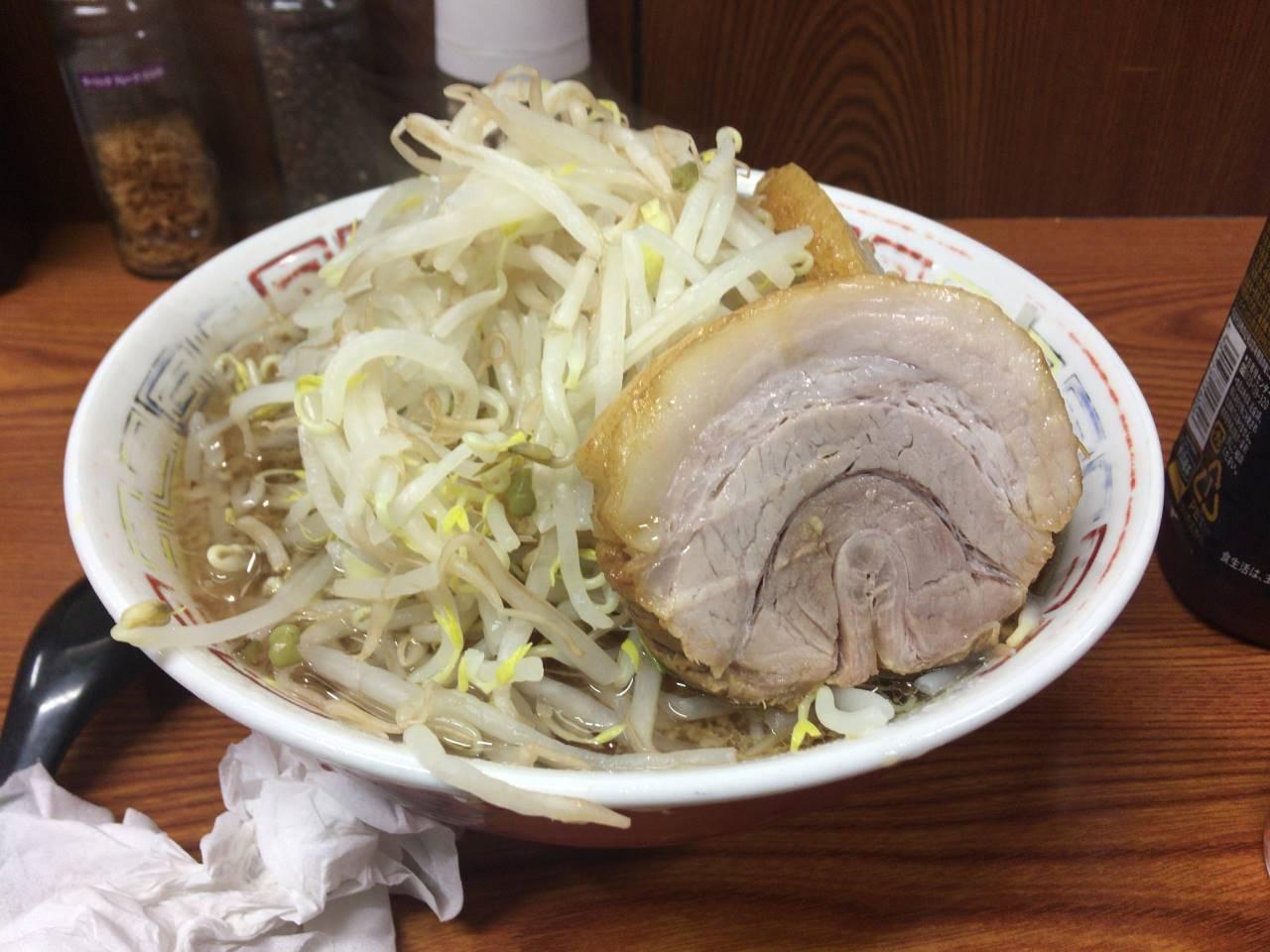 ラーメン二郎7回目 ラーメン730円「ヤサイ・ニンニク」