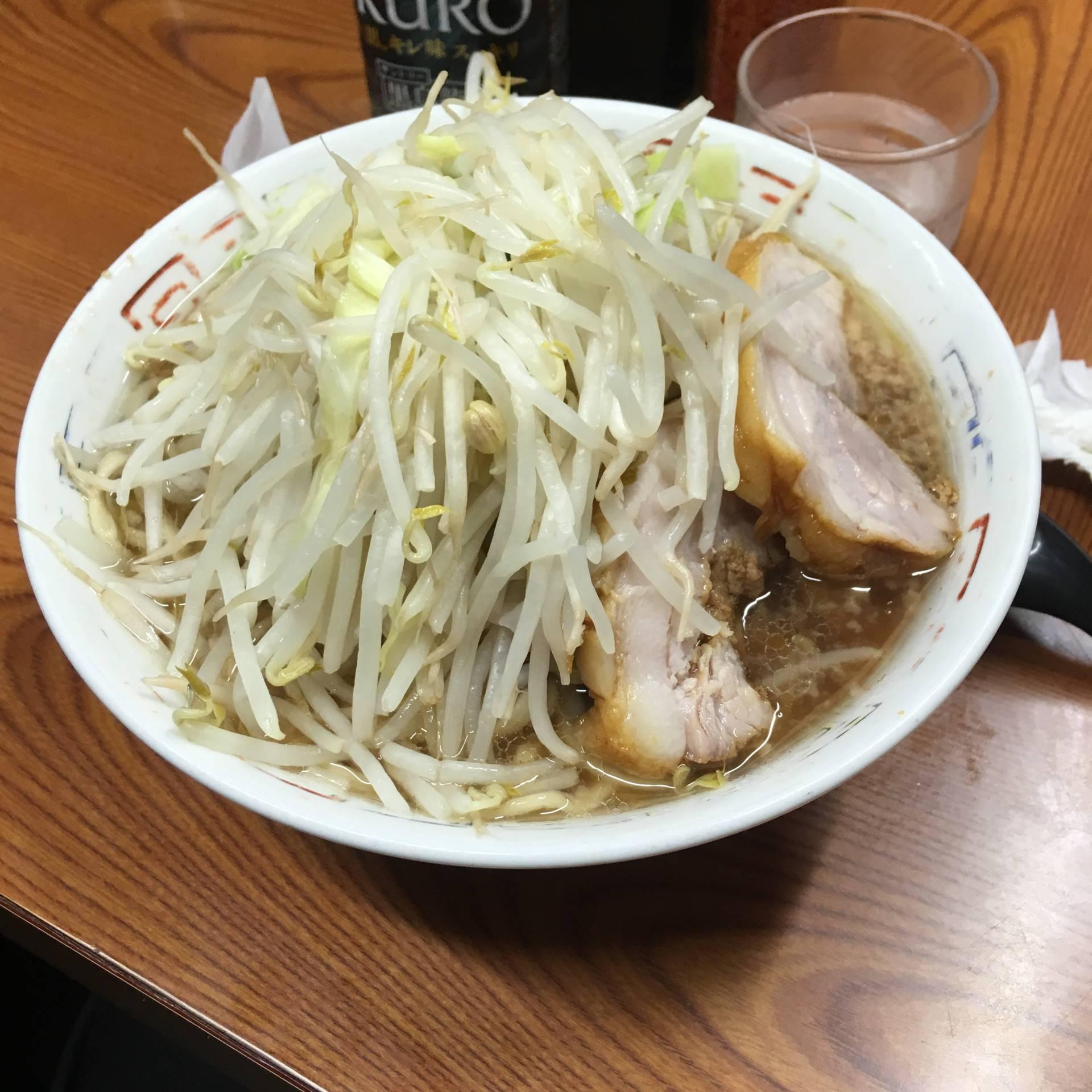 ラーメン730円「ヤサイニンニク」で注文